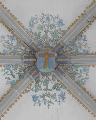 Deckengewölbe Wappen Heiligkreuztal Okt 2013