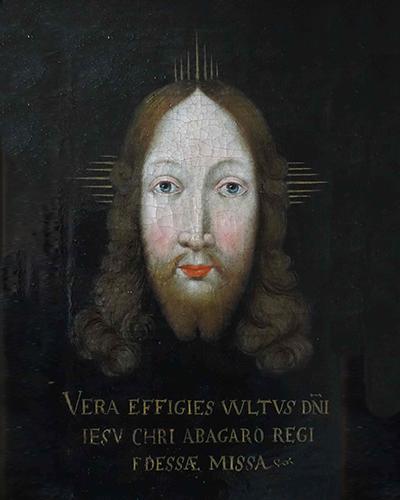 Vera effigies Christi Bild Beichtigerhaus Heiligkreuztal Ausschnitt gesamt